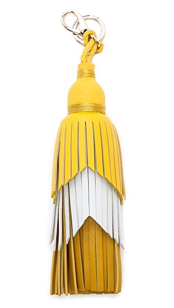 Anya Hindmarch Tiered Tassel Key Ring