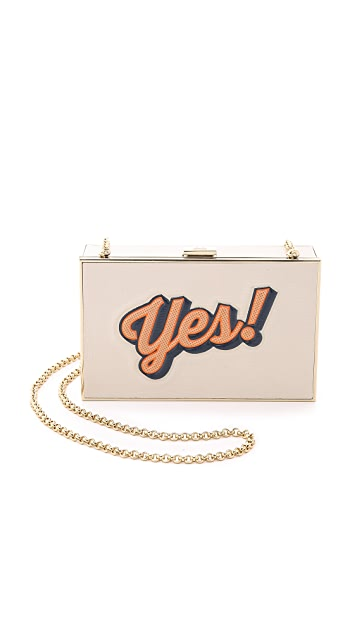 Anya Hindmarch Imperial Yes / No Clutch