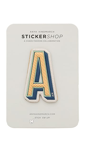 Anya Hindmarch Leather Letter Stickers