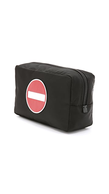 Anya Hindmarch No Entry Makeup Pouch