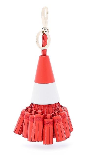 Anya Hindmarch Traffic Cone Tassel Bag Charm