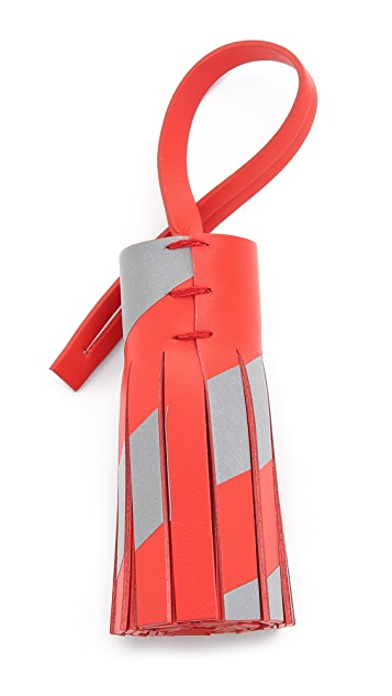 Anya Hindmarch Reflective Tassel Bag Charm