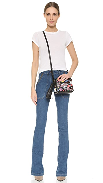 Anya Hindmarch Allover Wink Stickers Cross Body Bag