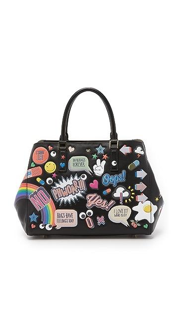 Anya Hindmarch Stickers on Hermes Kelly Bag 3 - bags, chloe, cute, black