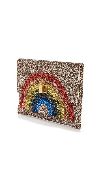 Anya Hindmarch Valorie Rainbow Clutch