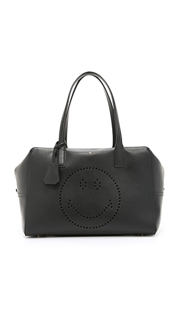 Anya Hindmarch Smiley Slouchy Top Handle Bag