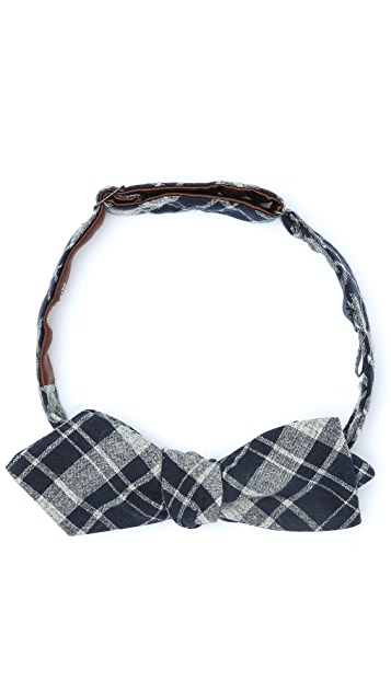 Alexander Olch The Holworthy Plaid Bow Tie
