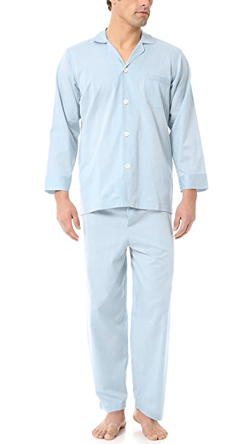 Alexander Olch Solid Pajama Set