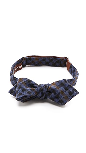 Alexander Olch Barrister Plaid Bow Tie