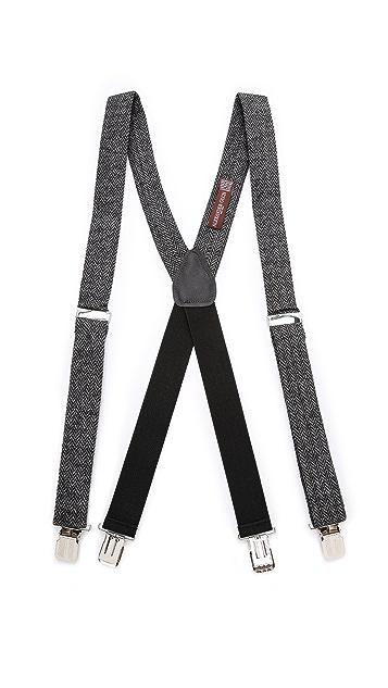 Alexander Olch Grey Brown Suspenders