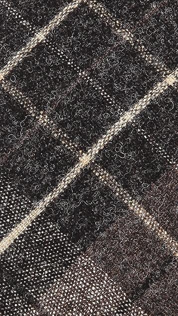 Alexander Olch Large Plaid Wool Necktie