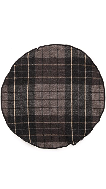 Alexander Olch Large Plaid Wool Pocket Round