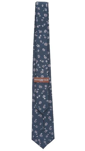 Alexander Olch The Archer Flower Print Necktie