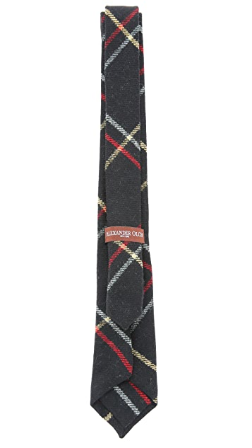 Alexander Olch The Brooks Large Windowpane Necktie