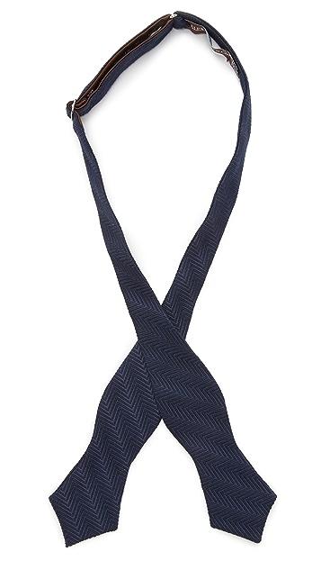 Alexander Olch Solid Herringbone Bow Tie