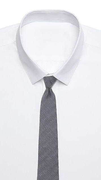 Alexander Olch Solid Herringbone Necktie