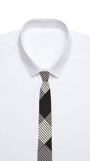 Alexander Olch The Patchwork Sewn Seersucker Neck Tie