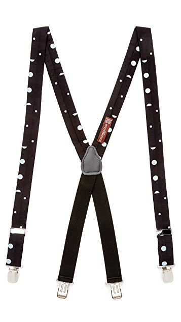 Alexander Olch The Split Spot Mixed Polka Dot Suspenders with Clips