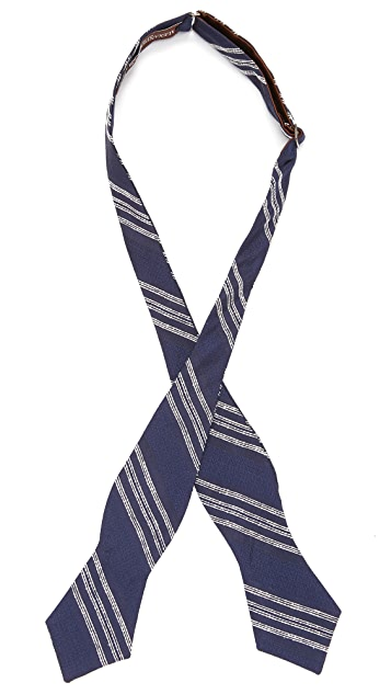 Alexander Olch The Executive Noile Stripe Bow Tie
