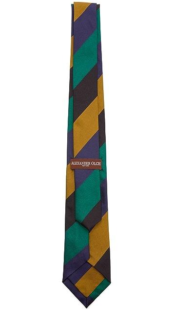 Alexander Olch The Director Twill Stripe Necktie