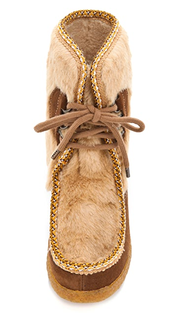 A.P.C. Suede Moccasin Booties