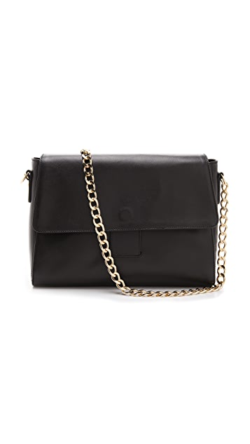 A.P.C. Chain Shoulder Bag in Saffiano