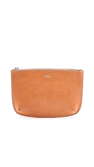 A.P.C. Large Leather Pouch