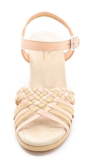 A.P.C. Woven Wedge Sandals