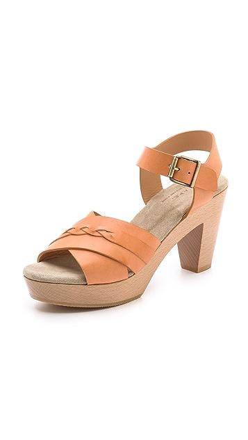 A.P.C. Braided Mid Heel Sandals