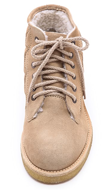 A.P.C. Lace Up Work Booties