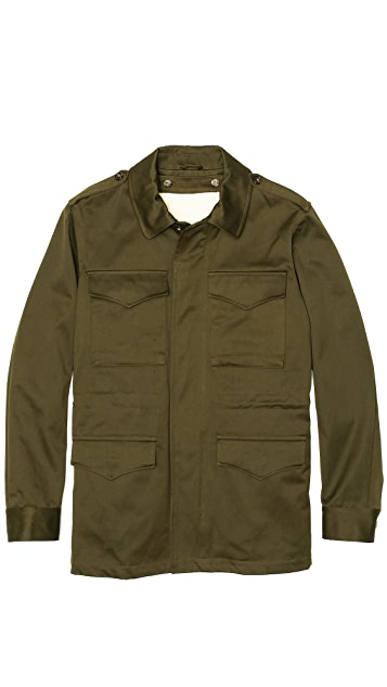 A.P.C. Military Jacket with Removeable Sherpa Liner