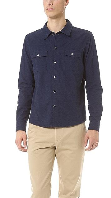 A.P.C. Cotton Flannel 2 Pocket Sport Shirt