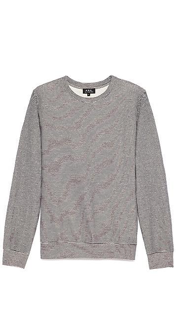 A.P.C. Narrow Stripe Double Face Sweatshirt