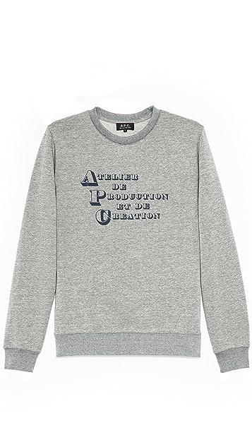 A.P.C. A.P.C. Logo Sweatshirt