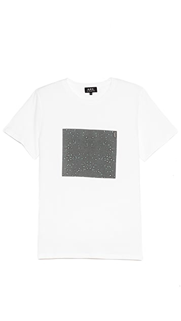 A.P.C. Star Print Short Sleeve T Shirt