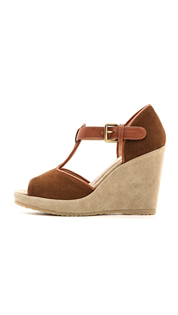 A.P.C. Open Toe Wedge Sandals
