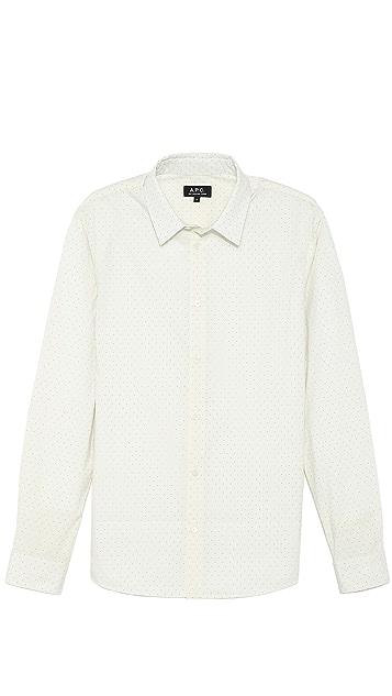 A.P.C. Small Dot Print Sport Shirt