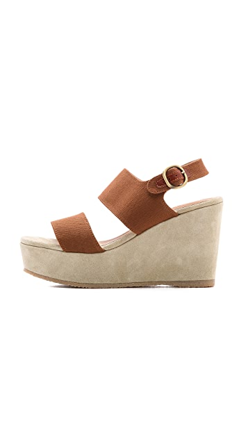 A.P.C. Two Band Wedge Sandals