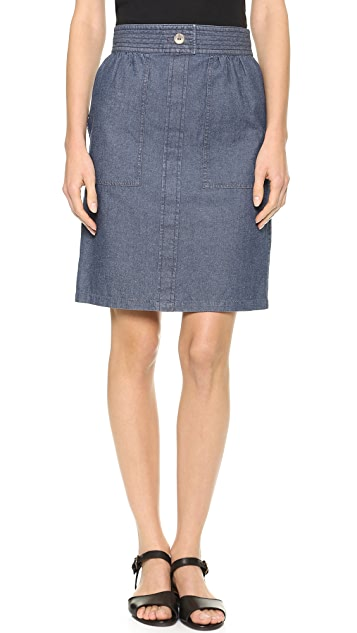 A.P.C. Safari Denim Skirt