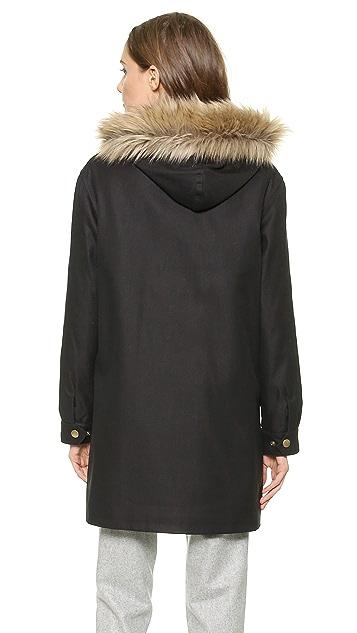 A.P.C. Parka with Faux Fur Hood