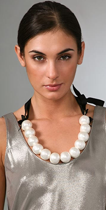 Amanda Pearl Gobstopper Necklace