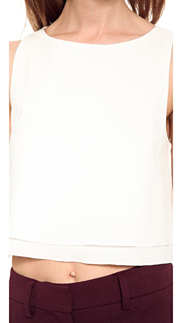 Apiece Apart Agnes Cropped Blouse