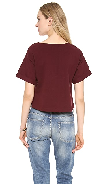 Apiece Apart Cropped Short Sleeve Tee