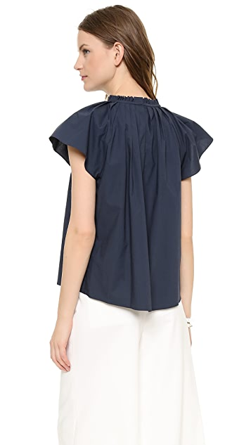 Apiece Apart Paper Flower Blouse