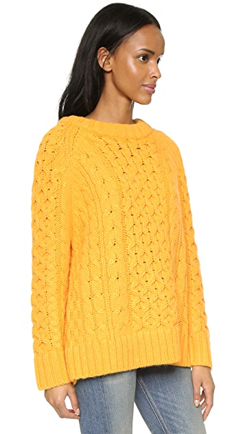 Apiece Apart Analuisa Fisherman Sweater