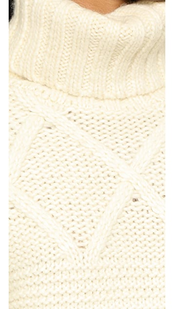 Apiece Apart Lucia Turtleneck Fisherman Sweater