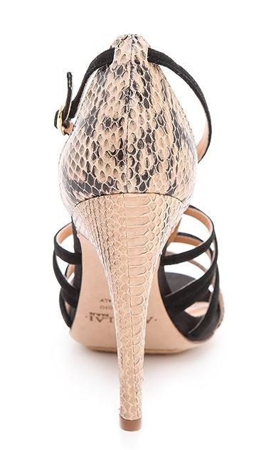 Aperlai Snake Strapped Heel