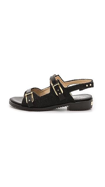 Aperlai Woven Flat Sandals