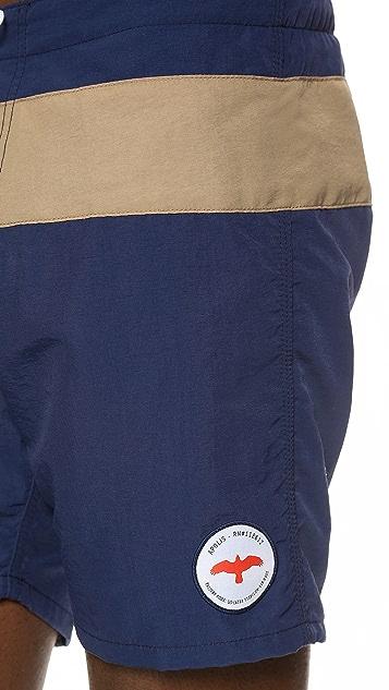Apolis Stripe Board Shorts