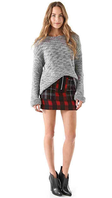 April, May Wilma Checked Wool Skirt